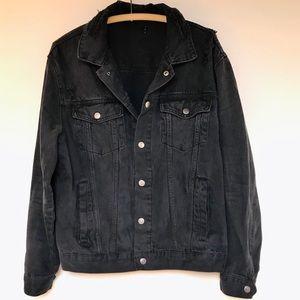 F21 distressed boyfriend jean jacket XL